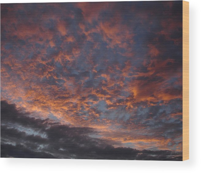 Landscape Wood Print featuring the photograph Chemical Sky by Chad Natti