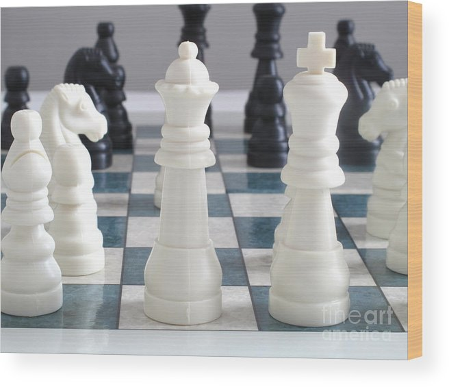 Chess Wood Print featuring the photograph Chess by Valerie Morrison