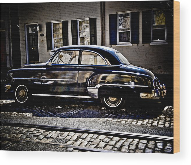 Chevy Wood Print featuring the photograph Chevy In Black by Craig Perry-Ollila