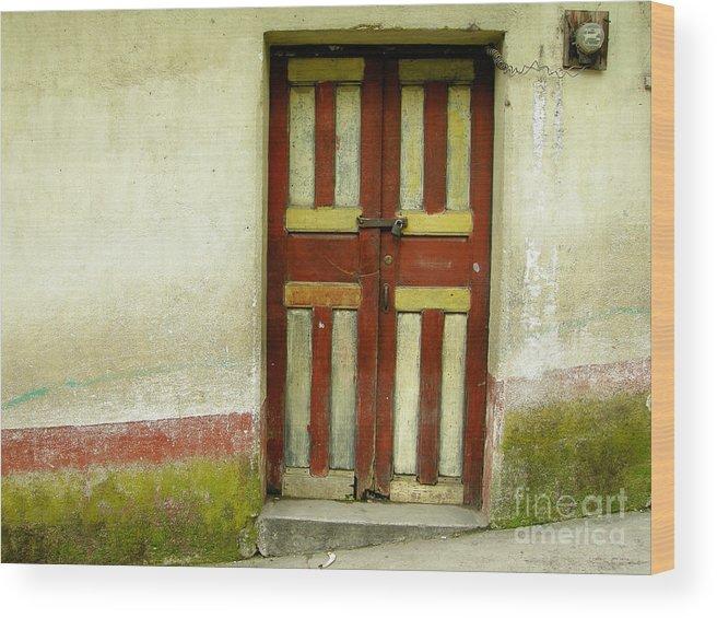 Door Wood Print featuring the photograph Chichi Door by Derek Selander