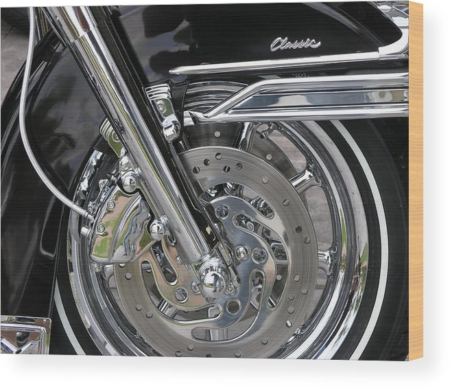 Motorcycle Wood Print featuring the photograph Classic by Jim Derks