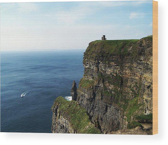 Irish Wood Print featuring the photograph Cliffs Of Moher Ireland by Teresa Mucha
