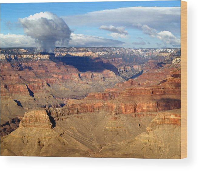 Grand Canyon National Park Wood Print featuring the photograph Cloud by Carrie Putz