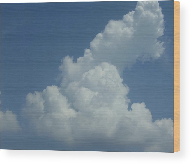 Clouds Wood Print featuring the photograph Clouds by Kristen Hurley