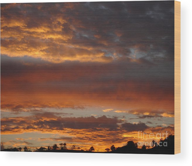 Sunset Wood Print featuring the photograph Coco Sky by Chad Natti