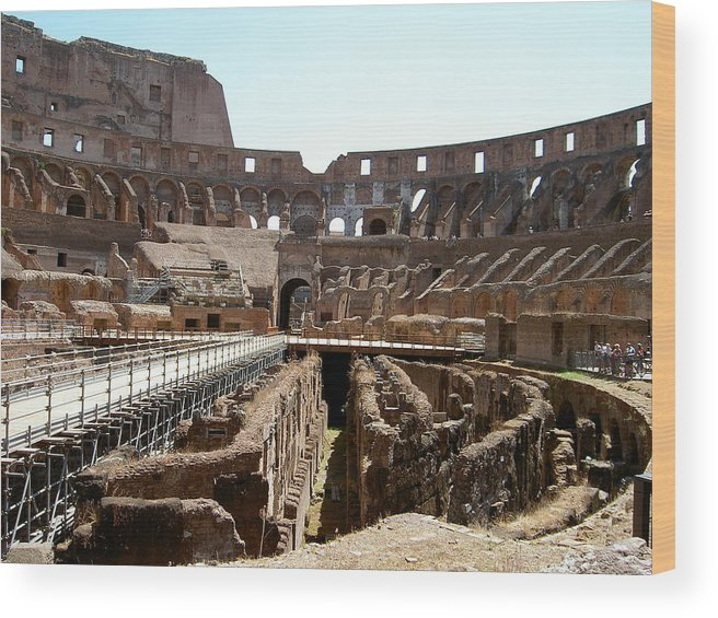 Rome Wood Print featuring the photograph Coliseum 2 by Blima Efraim
