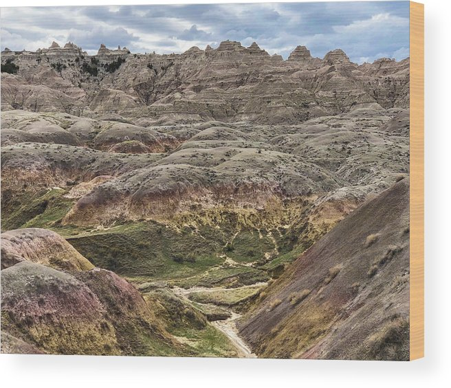 Breathtaking Wood Print featuring the photograph Colorful Layered Mountains by Sandra Lund