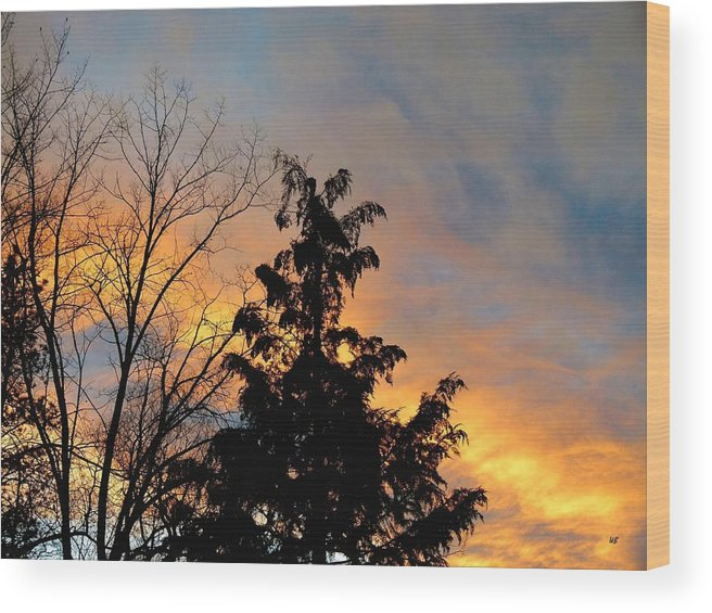 Sunset Wood Print featuring the photograph Colorful Nightfall by Will Borden