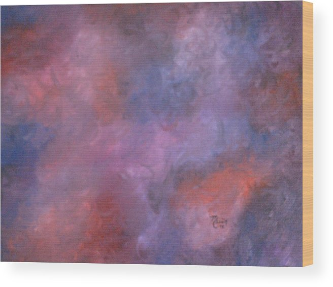 Abstract Art Wood Print featuring the painting Colors by Guillermo Mason