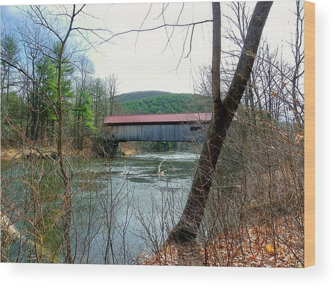 Nh Wood Print featuring the photograph Coombs Covered Bridge by Wayne Toutaint