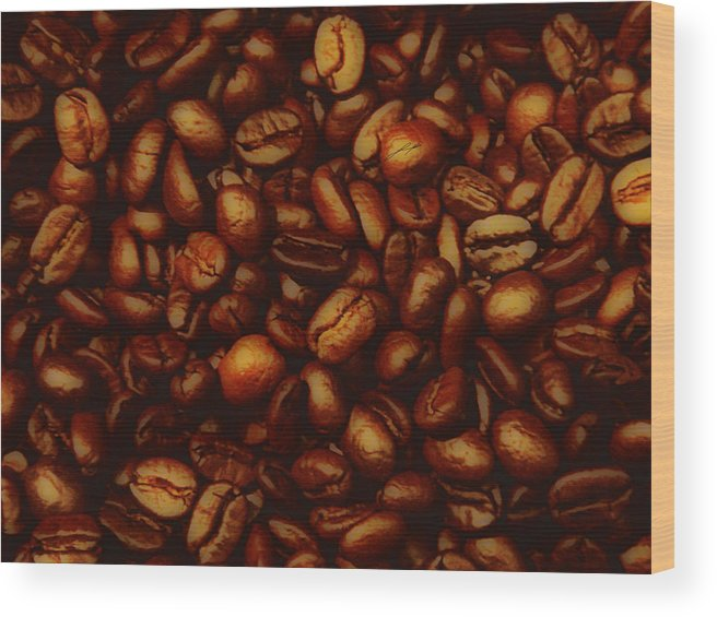 Coffee Wood Print featuring the photograph Costa Rican Coffee by LoungeMode Productions