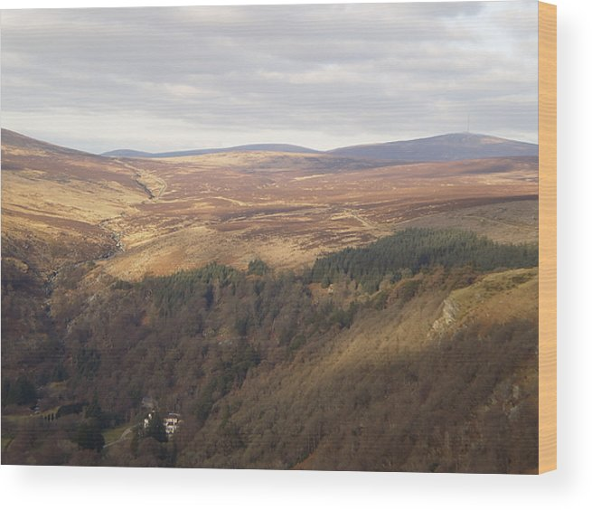 View Over The County Carlow Hills In Ireland Wood Print featuring the photograph County Carlow Hills by Paul Jessop