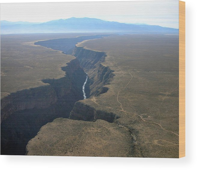 Landscape Wood Print featuring the photograph Crack In The Earth by Irina ArchAngelSkaya
