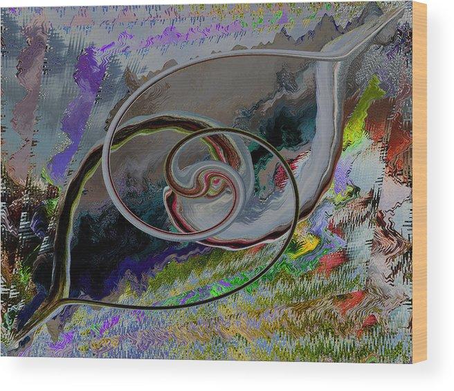 Alvin Kimble Wood Print featuring the digital art Crisscross Wishbone by Beverly Kimble Davis