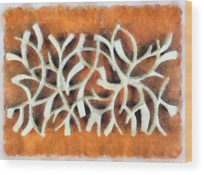 Abstract; Framed; Sunset; Tides; Waves; Rocks; Shelf; California; La Jolla; Coast; Sea; Ocean; Seascape; Clouds; Photographs; Paintings; Beach; Waves; Shoreline; Landscape; Aerial; Coastal; California; San Diego; Wood Print featuring the painting Cross Roads by Russ Harris