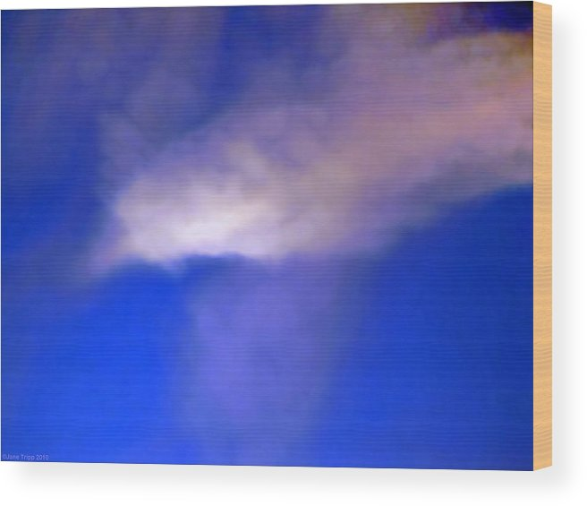 Impressionistic Sky Photograph Wood Print featuring the photograph Crossover by Jane Tripp