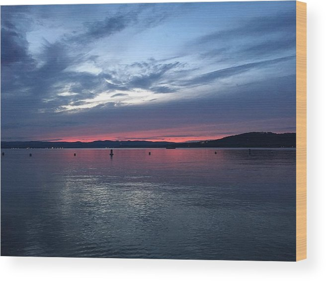 Blue Wood Print featuring the photograph Croton Sky by Kelly Schulze