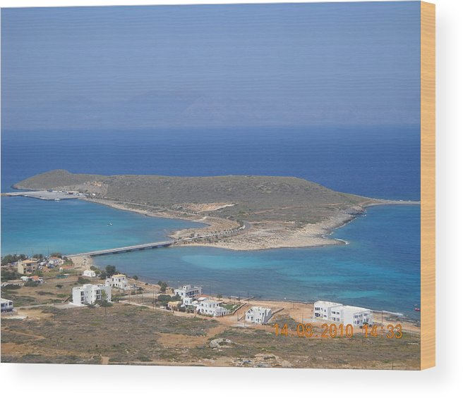Wood Print featuring the photograph Cythera Island by Helen Tomprou