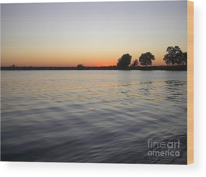 Landscape Wood Print featuring the photograph Dalrock Tranquility by Iamthebetty Tbone
