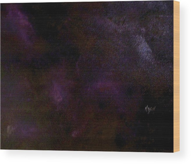 Abstract Wood Print featuring the painting Dark Colors by Guillermo Mason
