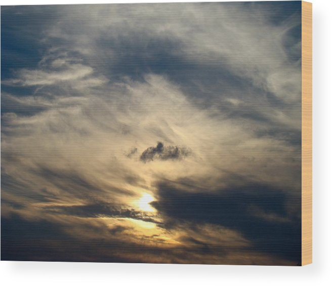 Winter Wood Print featuring the photograph December Sky by Ana Villaronga