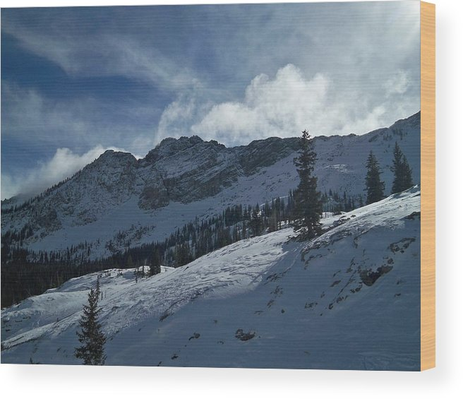 Ski Wood Print featuring the photograph Devils Castle Morning Light by Michael Cuozzo