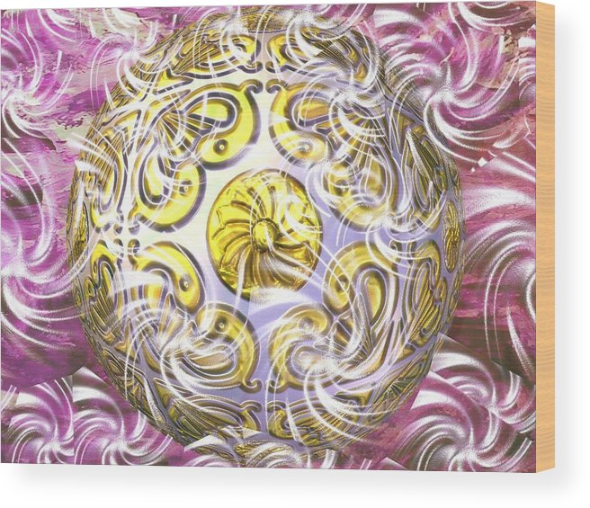 Abstract Digital Art Wood Print featuring the photograph Digital Ball by Guillermo Mason