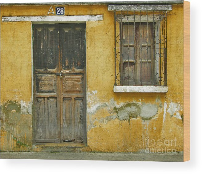 Door Wood Print featuring the photograph Door And Window by Derek Selander