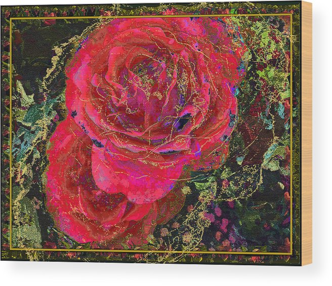 Roses Wood Print featuring the painting Dornroeschen by Anne Weirich