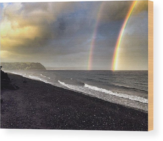 Wood Print featuring the photograph Double Rainbow by David Wilder
