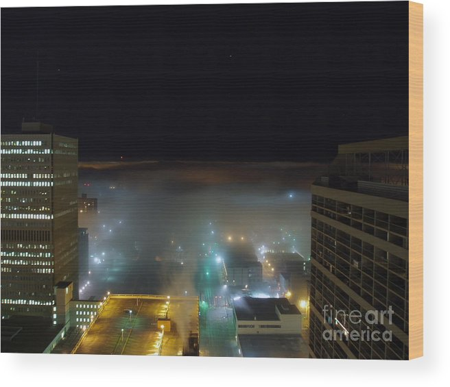 Photograph Wood Print featuring the photograph downtown Calgary2 by Seon-Jeong Kim