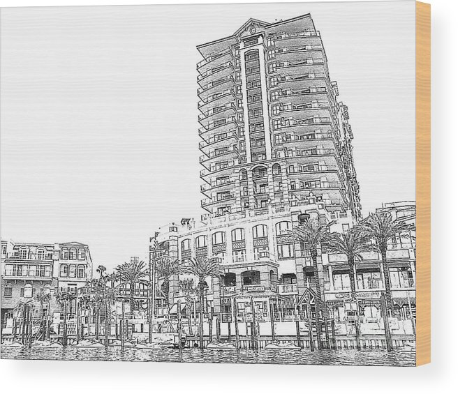 Drawing Wood Print featuring the photograph Drawing The Building by Michelle Powell