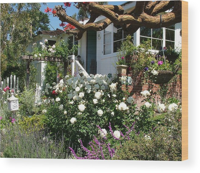 Cottage Wood Print featuring the photograph Dream Cottage In Laguna by John Loyd Rushing