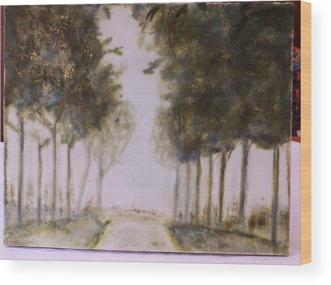 Landscape Wood Print featuring the painting Dreamy Walk by Karla Phlypo-Price