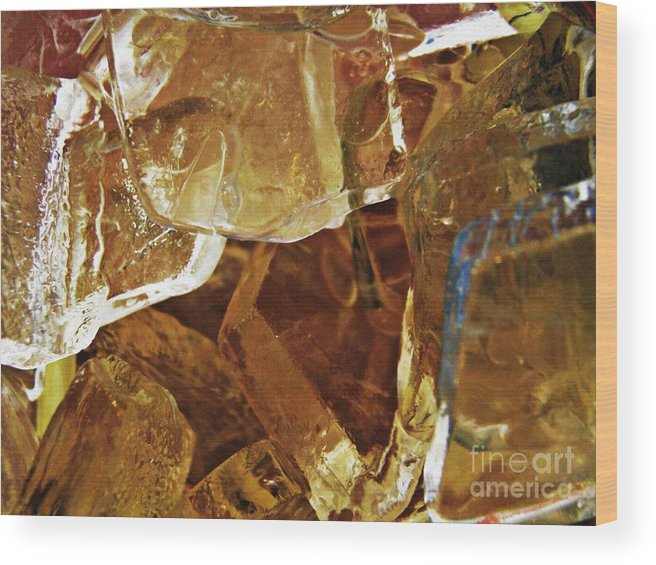 Abstract Wood Print featuring the photograph Dunkin Ice Coffee 6 by Sarah Loft