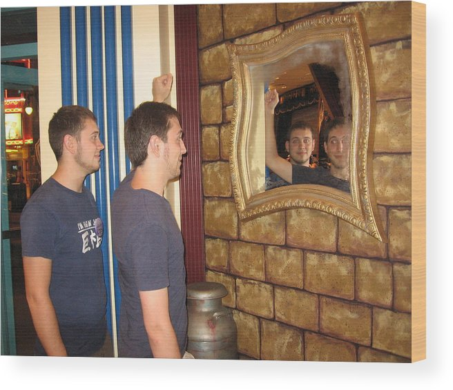 Twins Wood Print featuring the photograph Duplicity by Sandra Winiasz