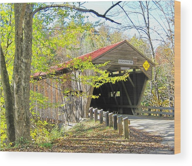 Nh Wood Print featuring the photograph Durgin Covered Bridge by Wayne Toutaint