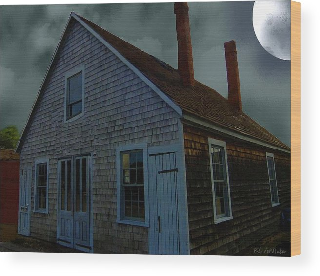 Autumn Wood Print featuring the painting Early American Moonlight by RC DeWinter