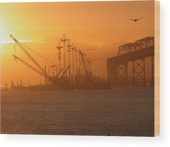 Sunrise Wood Print featuring the photograph Early Morning by Jerry Patchin