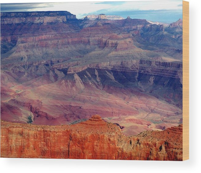 Grand Canyon National Park Wood Print featuring the photograph East Rim View by Carrie Putz