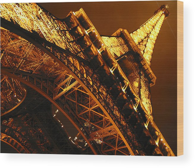 Eiffel Wood Print featuring the photograph Eiffel Tower Paris France by Gene Sizemore