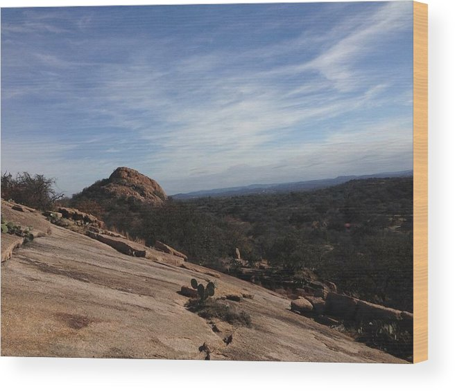 Enchanted Rock Wood Print featuring the photograph Enchanted Rox by Kyle Carter