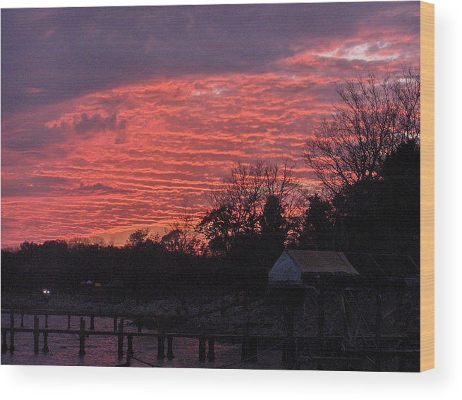 Sunset Wood Print featuring the photograph End Of Day by Nicole I Hamilton