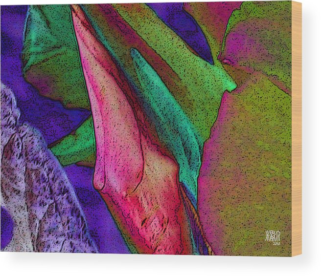 Flowers Wood Print featuring the digital art Enduring Change by Michele Caporaso