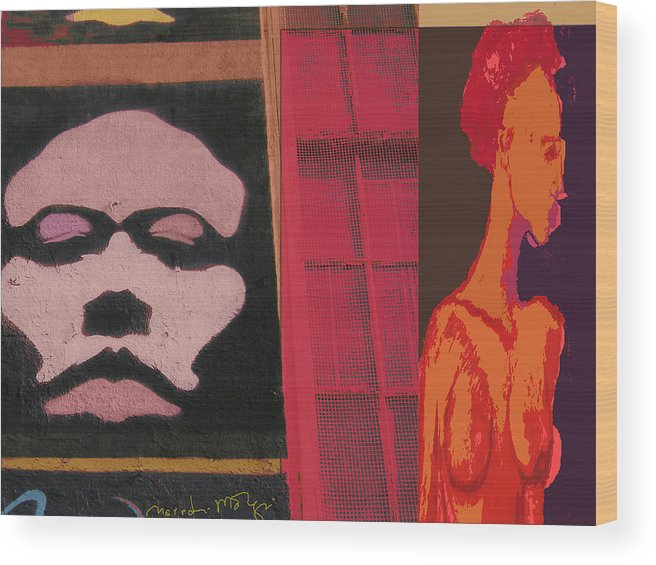 Poster Wood Print featuring the painting Escape II by Noredin Morgan