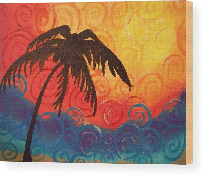 Colorful Wood Print featuring the painting Escape by Patti Spires Hamilton
