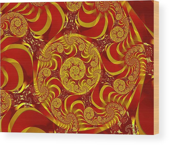 Fractal Wood Print featuring the digital art Eternal 3 by Vicky Brago-Mitchell