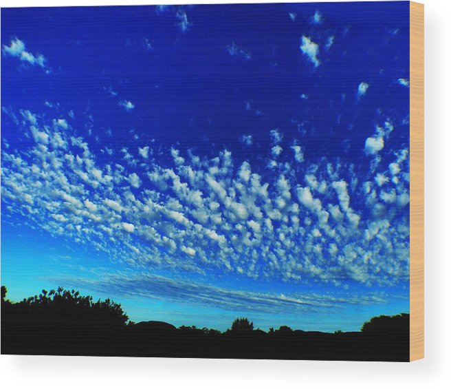 Evening Wood Print featuring the photograph Evening Clouds by Mark Blauhoefer