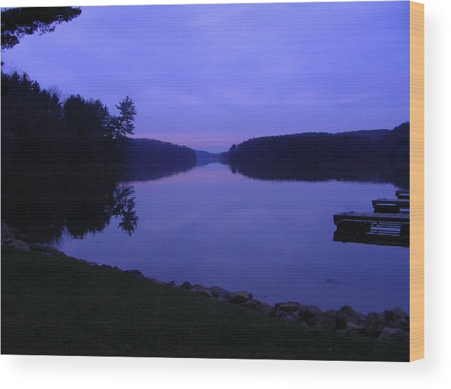 Water Wood Print featuring the photograph Evening Dockside by Peter McIntosh