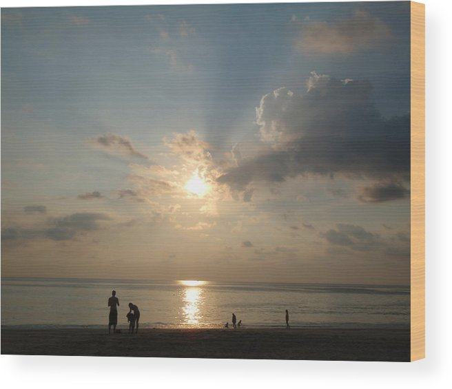 Thailand Wood Print featuring the photograph Evening Softness by Alexa Humphreys